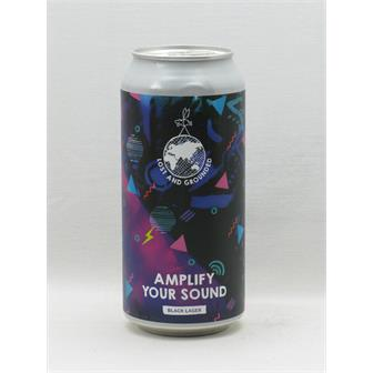 Lost and Grounded Amplify Your Sound Black Lager Bristol 440ml thumbnail