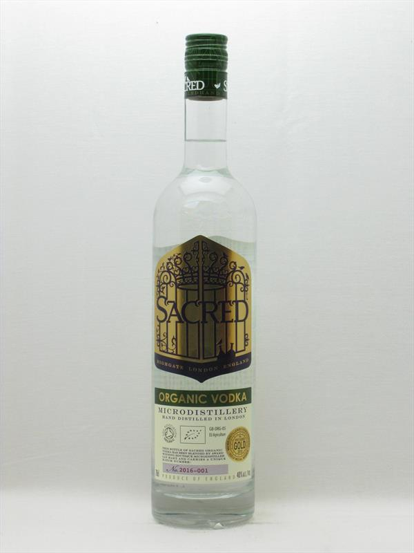 Sacred Organic Vodka 40% UK Image 1