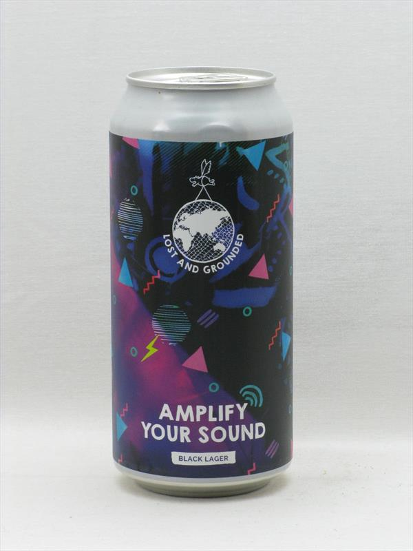 Lost and Grounded Amplify Your Sound Black Lager Bristol 440ml Image 1