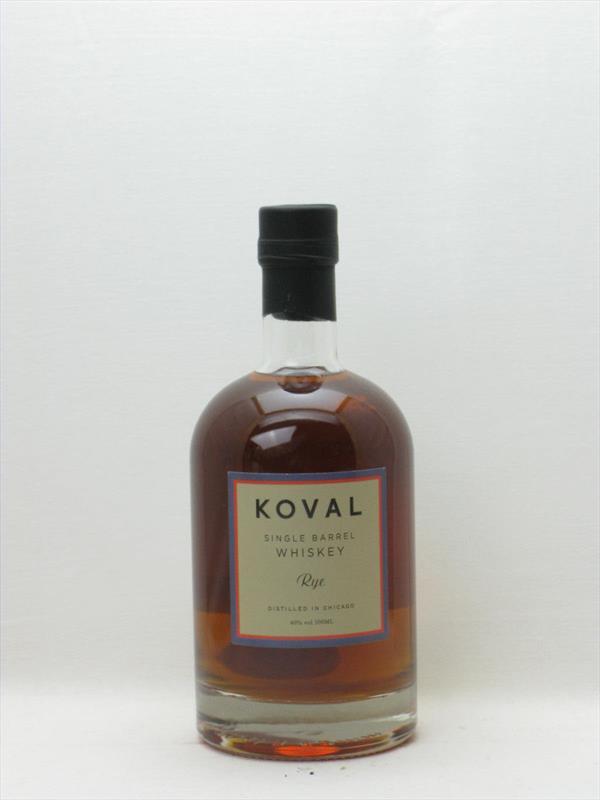 Koval Single Barrel Rye 40% 50cl Illinois USA Image 1