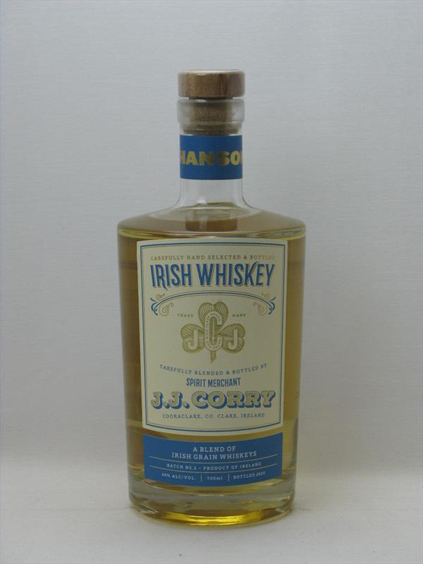 J J Corry The Hanson Single Grain Whiskey 46% Ireland Image 1