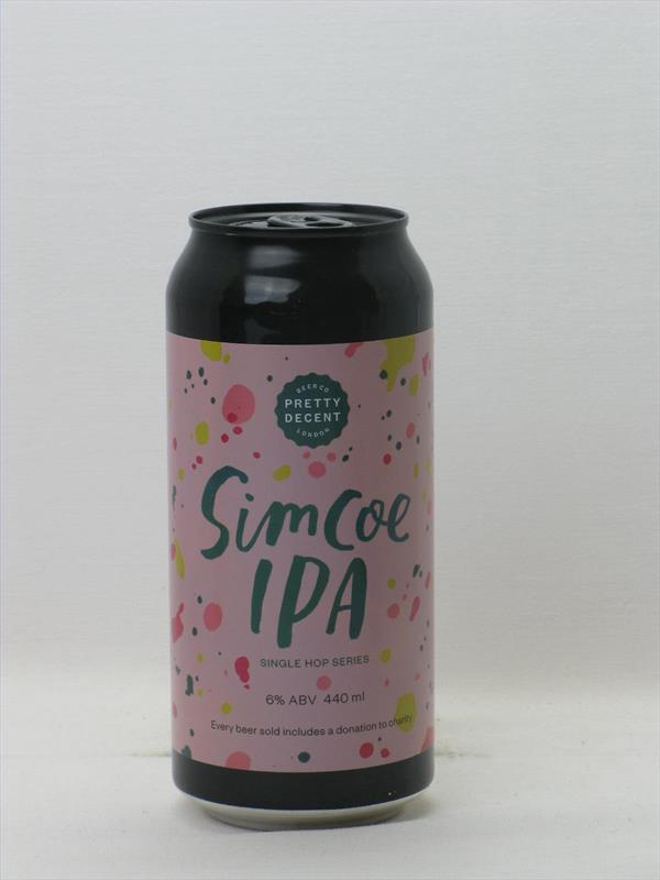 Pretty Decent Single Hop SIMCOE IPA 6% 440ml Forest Gate Image 1