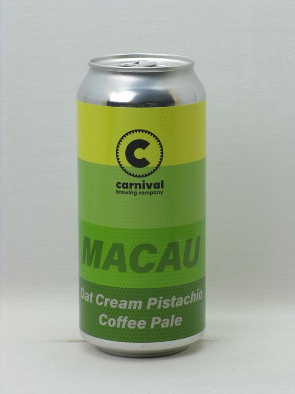 Carnival Macau Oat Cream Pistachio Coffee Pale 5.4% 440ml Liverpool Image 1