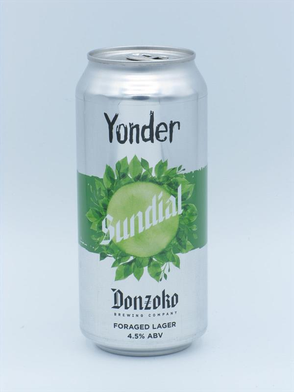 Yonder x Donzoko Sundial Helles with Foraged Nettles 4.5% 440ml Somerset Image 1