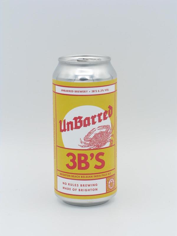 UnBarred 3Bs Belgian-style IPA 6.3% 440ml Brighton Image 1