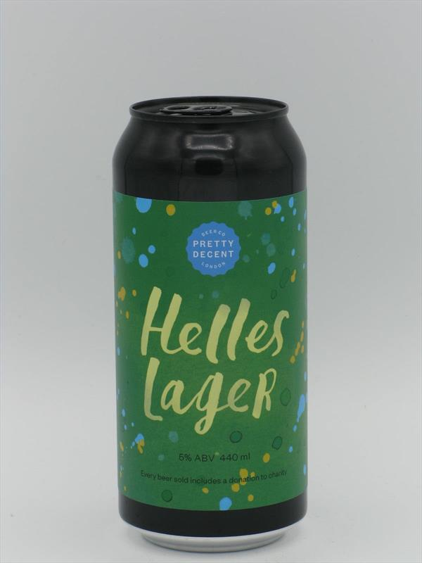Pretty Decent Helles Lager 5% 440ml Forest Gate Image 1