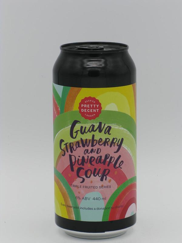Pretty Decent Guava/Strawberry/Pineapple Sour 440ml Forest Gate Image 1
