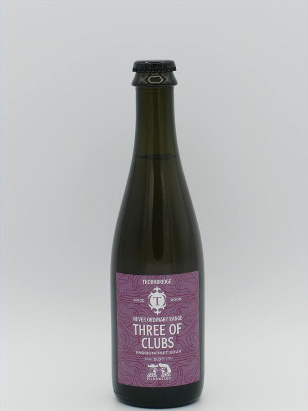 Thornbridge x Mikkeller Three of Clubs Passionfruit Sour 5.5% 375ml Image 1