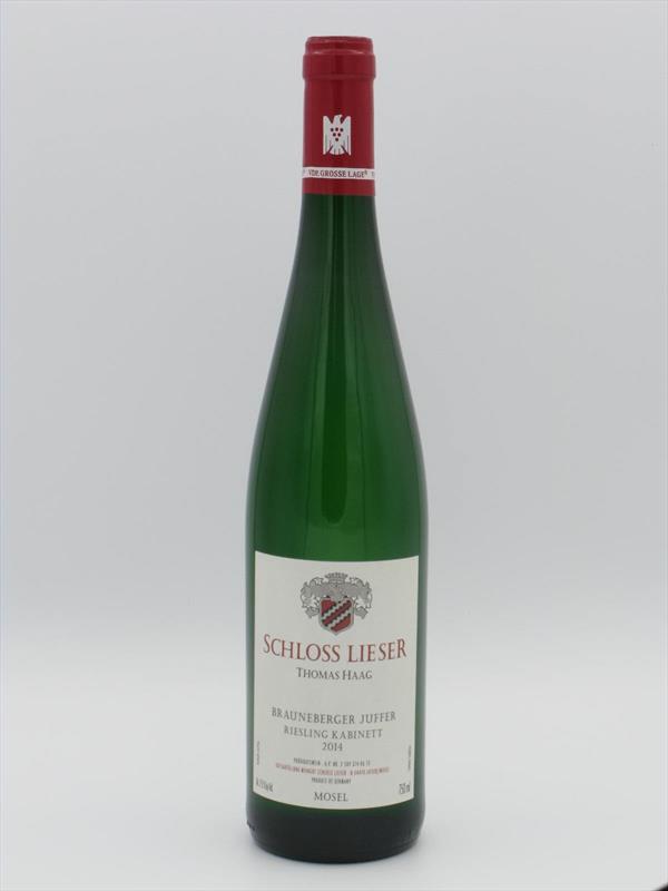 Schloss Lieser Brauneberger Juffer Sonnenuhr Riesling Kabinett 2014 Mosel Image 1