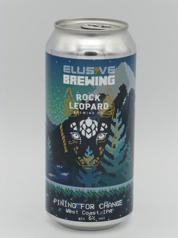 Rock Leopard X Elusive Brewing Pining For Change West Coast IPA 6% 440ml Welling Image 1