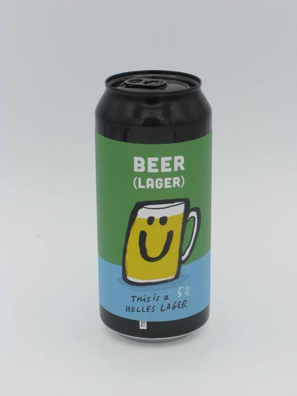 Pretty Decent BEER (Lager) Helles 5% 440ml Forest Gate Image 1